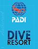 本栖湖ダイビングサービス MOTOSUKO DIVE RESORTからPADIへのリンク